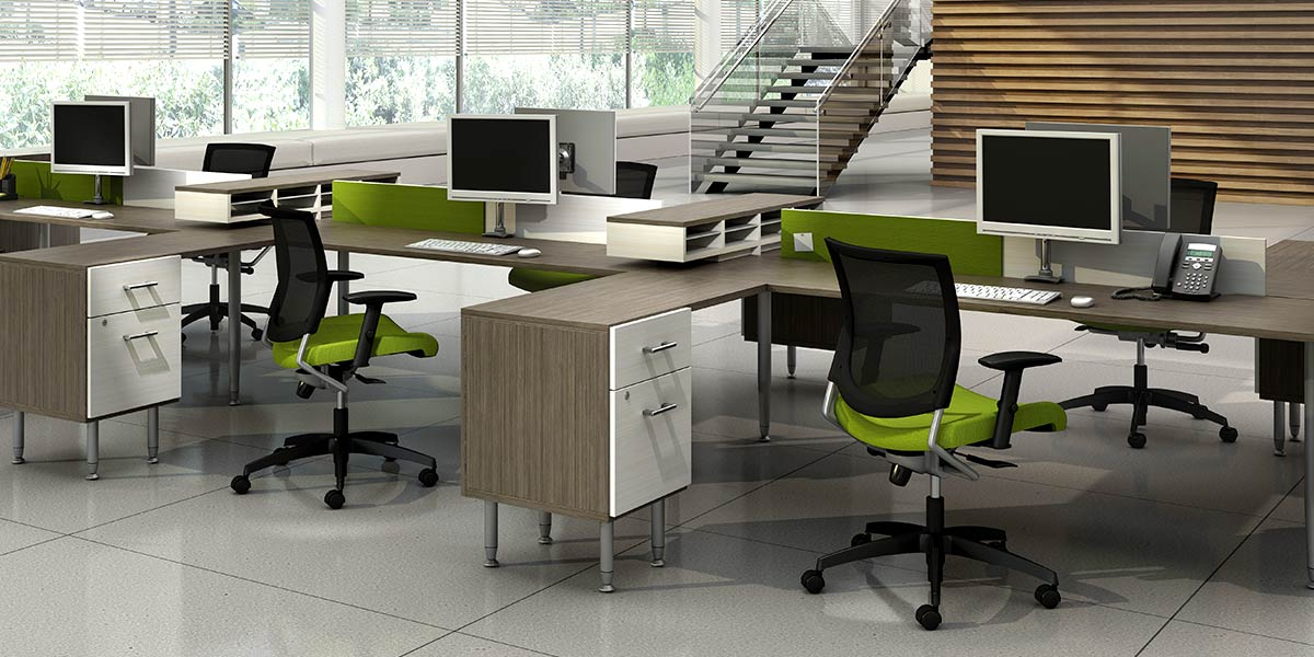 Use Open Plan Workstations to Improve Office Communication in Los Angeles