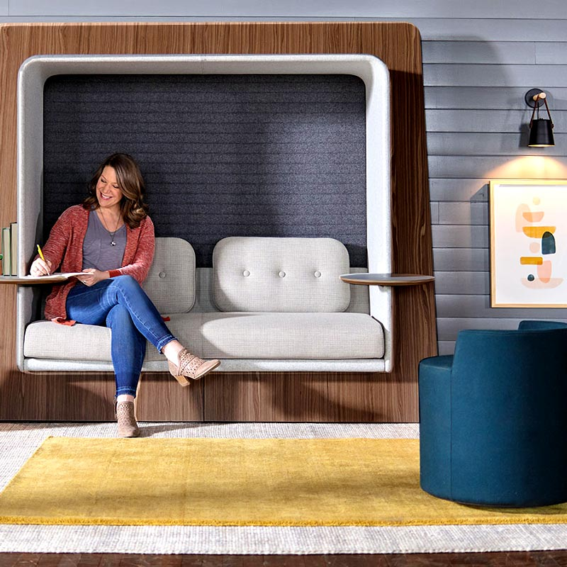 Office Inspirations OFS Brands LeanTo Lounge
