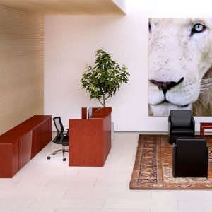 Cherryman Ruby Reception Desk