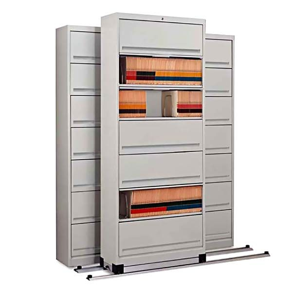 Mayline Kwik-Track High Density File Cabinet