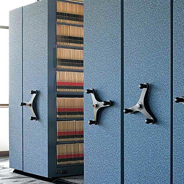 Mayline Mobile Aisle 1000 High Density File Cabinet