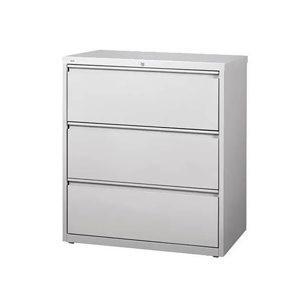 """Maxon Used Lateral File Cabinet 36""""W 3-Drawer"""