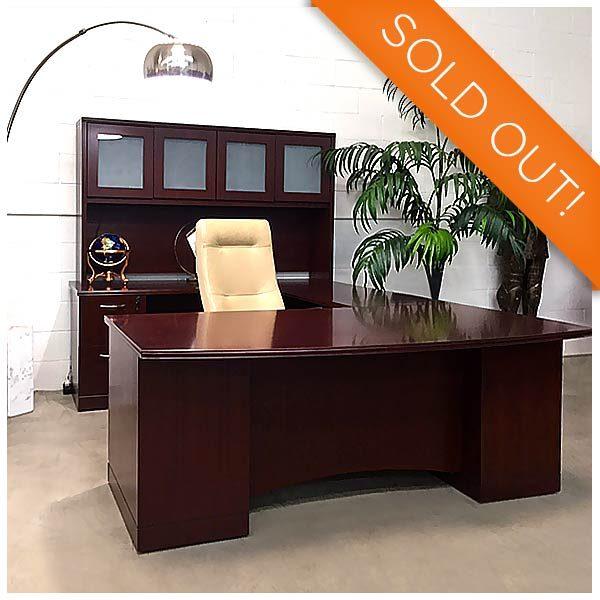 Used Majestic Executive Desk Set, Office Furniture Set