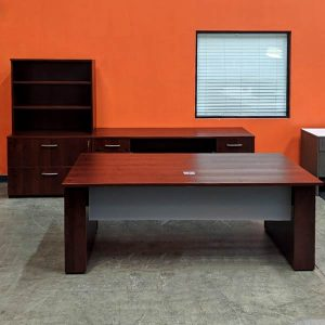 Maverick Used Height Adjustable Executive Desk Set B