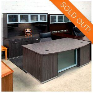 Office Star Used Tuxedo Executive Desk Set