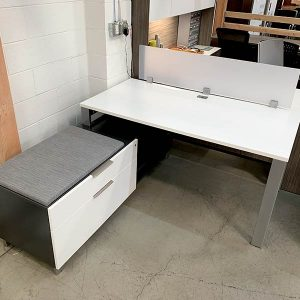 Maverick Used Apex Desk with Credenza