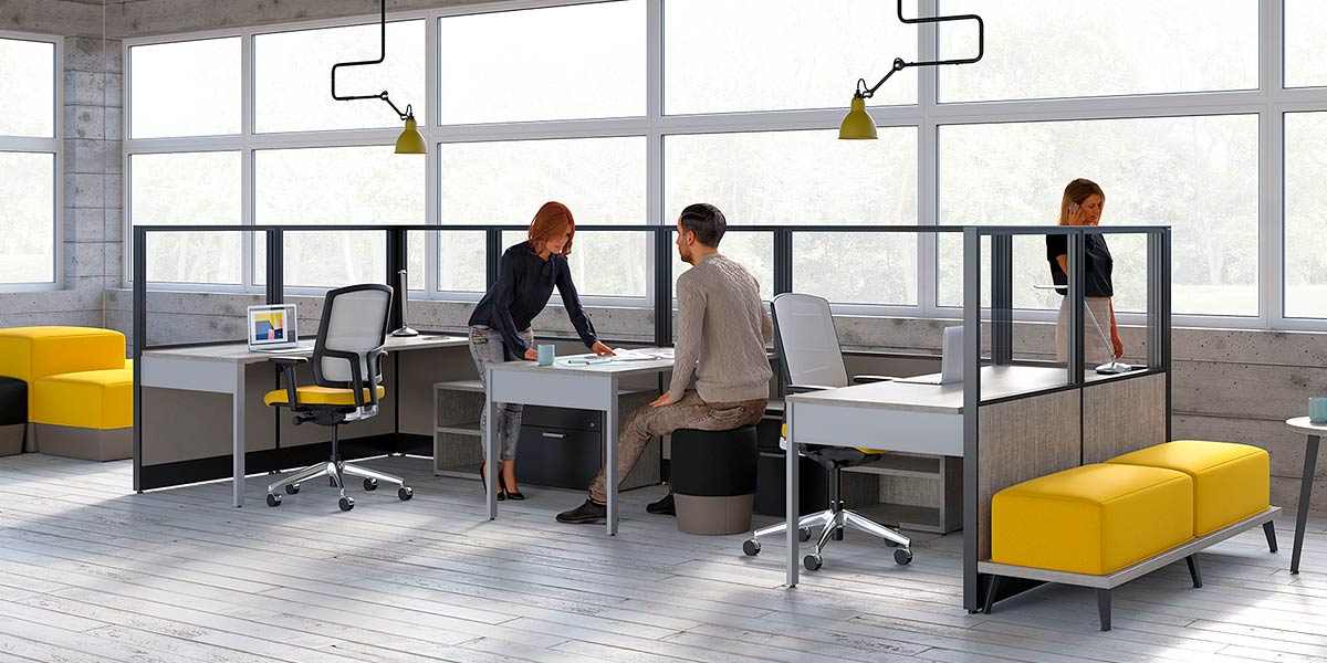 Modern Cubicles Office Workstation