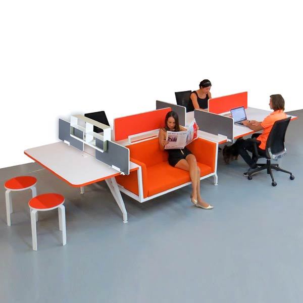 Scale 1:1 G-Series Nester Workstation and Desk Lounge