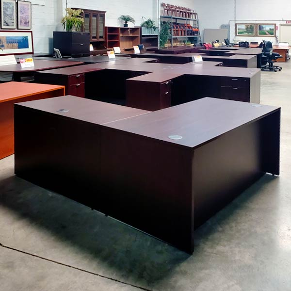 Boss Used L Shape Desk Straight Front