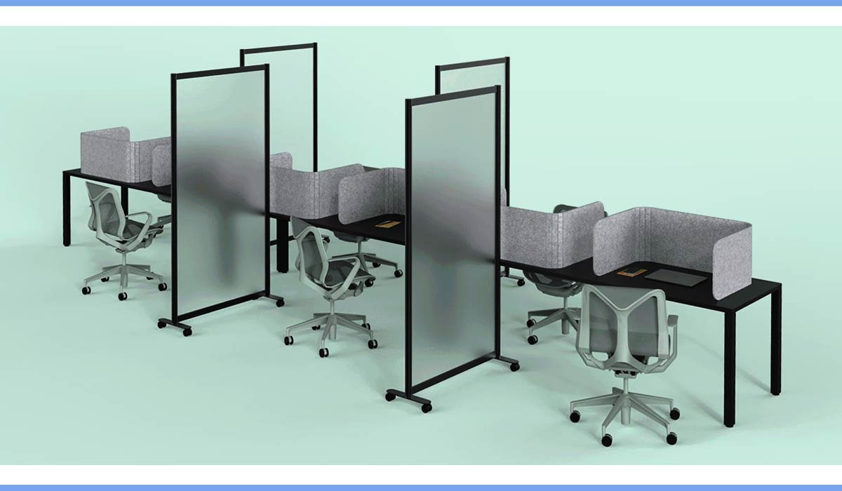 Covid Office Furniture Loftwall Split