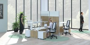 Arranging Workstations for Social Distancing in the Office