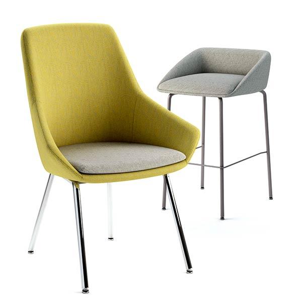 ERG International Carlton Chair and Stool