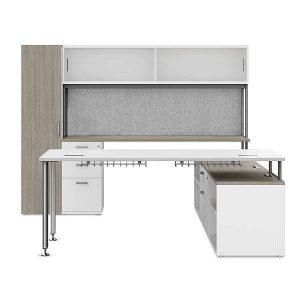 iDesk D Series Private Office Desk Workstation